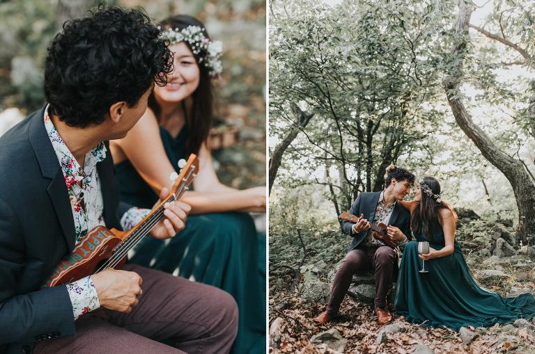 Shenandoah National Park Engagement Session Charlottesville VA Wedding Photographer